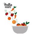 healthy habits lifestyle vector image