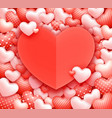 hearts background romantic valentine hearts vector image