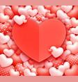 hearts background romantic valentine vector image vector image