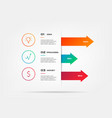 icons infographics with arrows element of chart vector image vector image