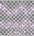 light glow effect star bursts purple color vector image vector image