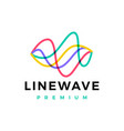 line wave flow abstract overlap color logo icon vector image vector image