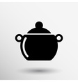 Logo pot casserole cooking image sign vector image vector image
