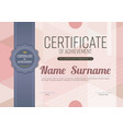 modern pink blank certified template l vector image vector image
