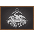Motor club on chalkboard vector image