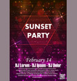 night dance party music night poster template vector image