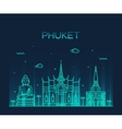 Phuket Trendy linear style vector image vector image