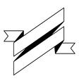 pictogram ribbon banner blank design vector image vector image