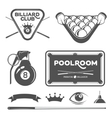 poolroom set vector image vector image