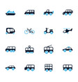 public transport icons set vector image vector image