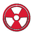radiation caution hazard nuclear symbol vector image