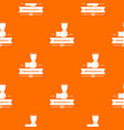 renovation service pattern orange vector image vector image