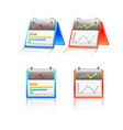 reports chart graphs icon set vector image vector image