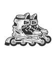 roller skates sketch vector image