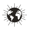 save the planet isolated icon vector image vector image