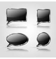 set black speech bubbles vector image