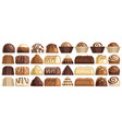 set chocolate candies vector image