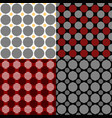 simple seamless circle pattern background sets vector image vector image