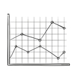 sketch of the line chart vector image vector image