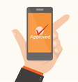 Smartphone Showing ApprovalOnline payments concept vector image vector image