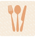 Spoon fork and knife vector image