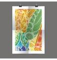 Stylish presentation of wall poster magazine vector image