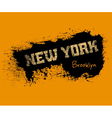 t shirt typography graphics new york orange vector image
