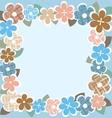 vintage flower border vector image vector image