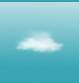 white cloud isolated on blue background vector image vector image