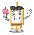 with ice cream easel character cartoon style vector image vector image