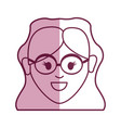 young woman face with glasses and hairstyle vector image vector image