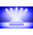 3d Presentation podium with sparkling spot lights vector image
