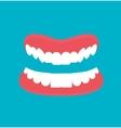 cartoon Dental technology false teeth vector image