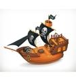 Pirate ship icon vector image