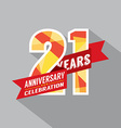 21th Years Anniversary Celebration Design vector image vector image