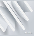 3d abstract white structure over white background vector image vector image