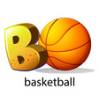 A letter B for basketball vector image vector image