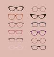 a set of glasses isolated glasses models vector image