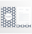 abstract letterhead design for your business vector image vector image