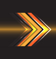 abstract technology yellow arrow direction speed
