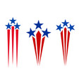 american flag symbolism stars and rays icons set vector image vector image