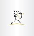 archer icon clipart vector image vector image