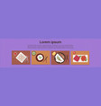 asian food set sushi korean thai dishes top angle vector image