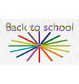 back to school background with rainbow wave and vector image vector image