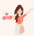 believe in yourself girl vector image