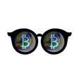 bitcoin sign vector image vector image