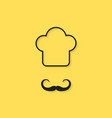 black outline chef icon vector image