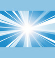 bright ray abstract and light blue background vector image vector image