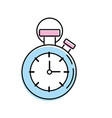 chronometer to know and meter the time vector image vector image