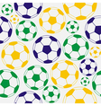 Color soccer seamless pattern vector image